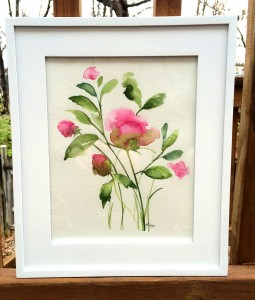 Finished Painting of Pink Peonies